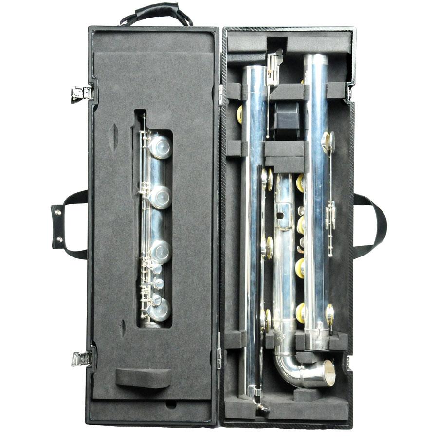 Wiseman London | Contrabass Flute Case in Carbon fibre  Double Contrabass Flute Case