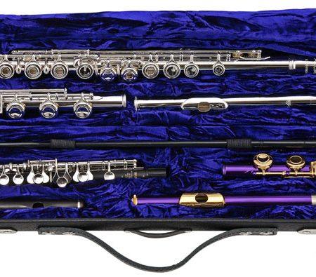 Wiseman London | One-piece Flute and Piccolo Case  Double Contrabass Flute Case