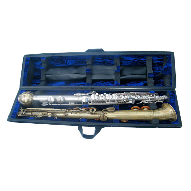 Conn-O Saxophone and straight Alto Saxophone Double Case